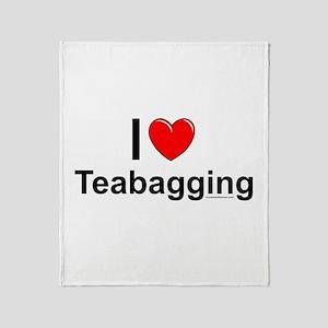 Teabagging Throw Blanket