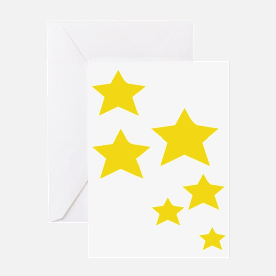 Unique Sun moon and stars christmas Greeting Card