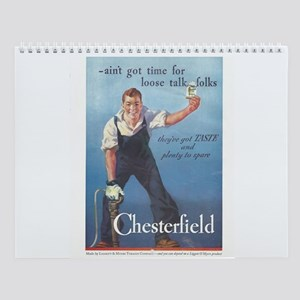 Vintage Chesterfield Cigarette Wall Calendar