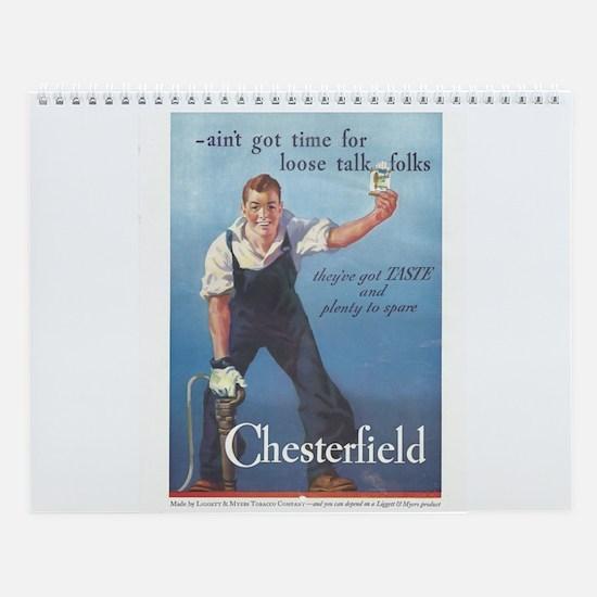 Vintage Chesterfield Cigarette Wall Calendar