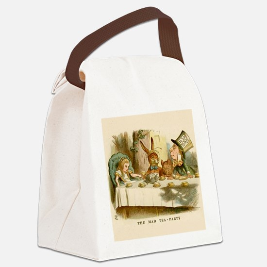 Cute Alice in wonderland door Canvas Lunch Bag