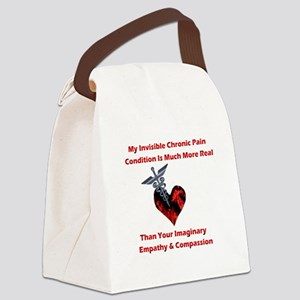 Invisible Chronic Pain Red Heart.png Canvas Lunch