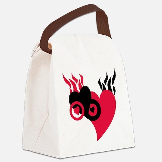 Cute Valentin Canvas Lunch Bag