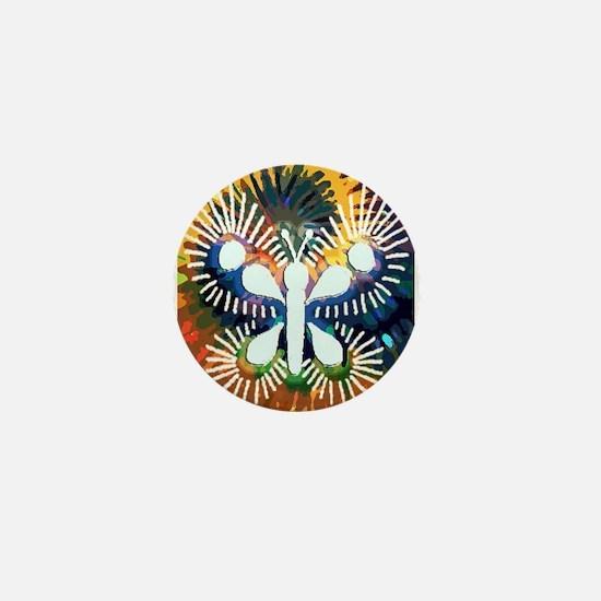 Chrysalis Rainbow Mini Button