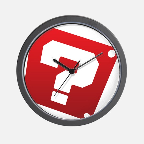Warped Question - Red Wall Clock