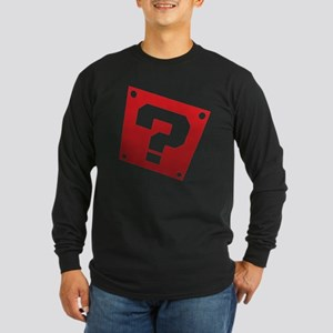 Warped Question - Red Long Sleeve T-Shirt