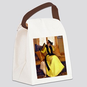 Lady in Yellow - Susan Watkins Canvas Lunch Bag