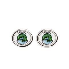 Imagine Whirled Peas Oval Cufflinks