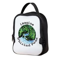 Imagine Whirled Peas Neoprene Lunch Bag