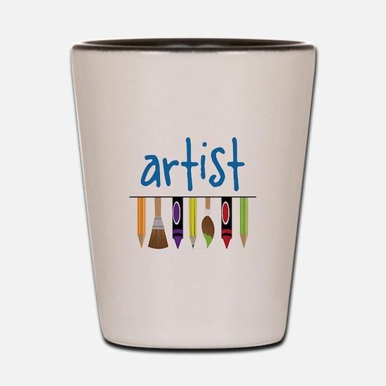 Artist Shot Glass