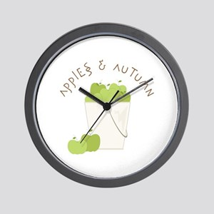 Apple & Autumn Wall Clock