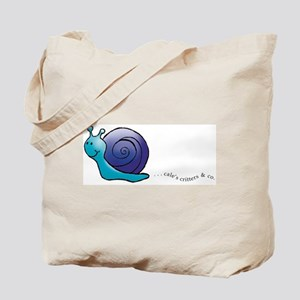 Blue and Purple Snail Tote Bag
