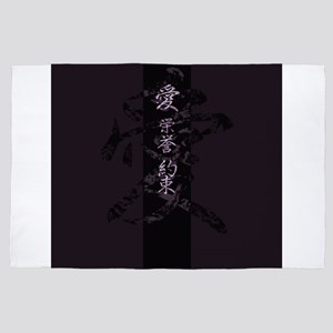 Japanese Characters 4' x 6' Rug