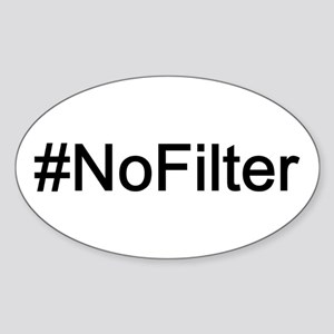 #NoFilter Sticker (Oval)