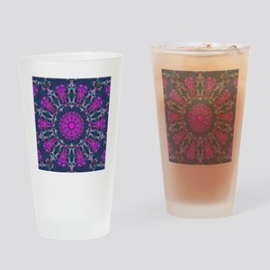 Colorful Kaleidoscope Art Pattern Drinking Glass