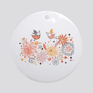Swirly Floral Bird Flower Vintage Patterns Ornamen