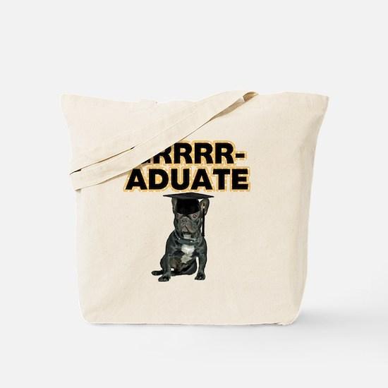 Graduation French Bulldog Tote Bag