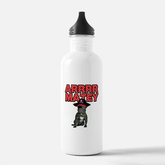 Pirate French Bulldog Water Bottle