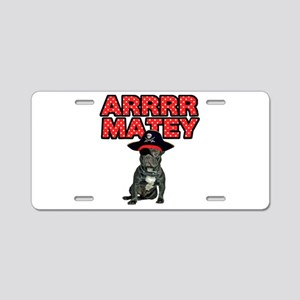 Pirate French Bulldog Aluminum License Plate