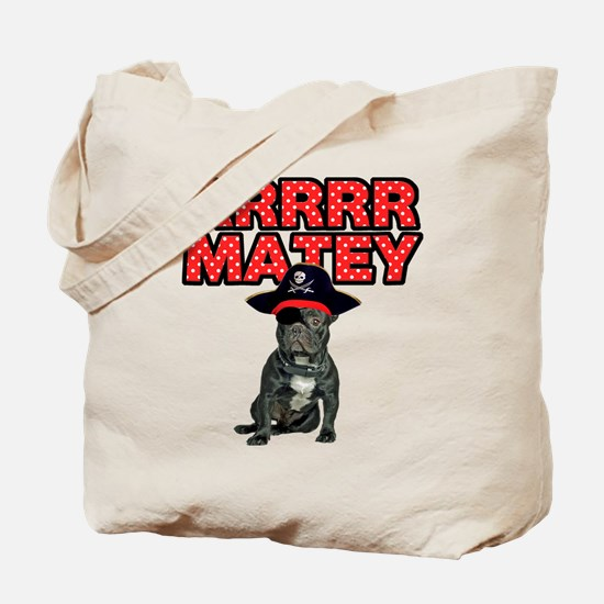Pirate French Bulldog Tote Bag