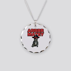 Pirate French Bulldog Necklace Circle Charm