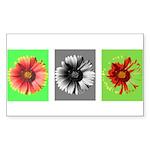 OpArt Flowers Sticker (Rectangle 10 pk)