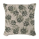 Claws Camo Woven Throw Pillow