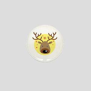 Christmas Reindeer Holiday Animal Mini Button