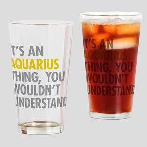 Aquarius Thing Drinking Glass