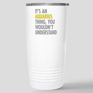 Aquarius Thing Stainless Steel Travel Mug