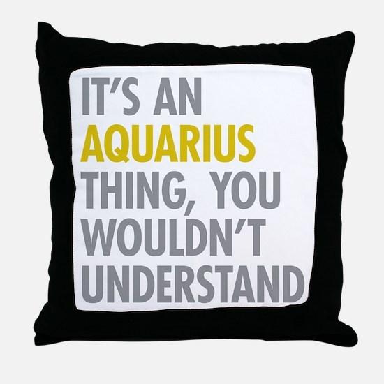 Aquarius Thing Throw Pillow