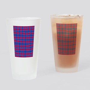 Blue And Red Drinking Glass
