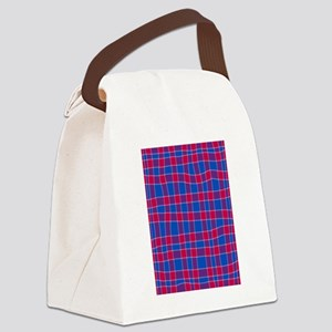 Blue And Red Canvas Lunch Bag