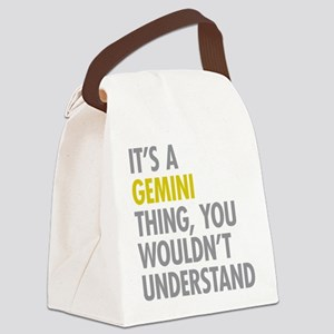 Gemini Thing Canvas Lunch Bag