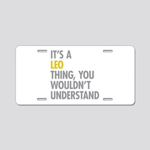 Leo Thing Aluminum License Plate