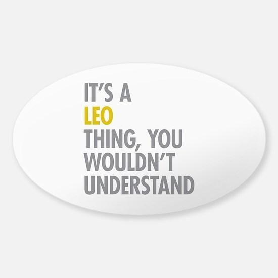 Leo Thing Sticker (Oval)