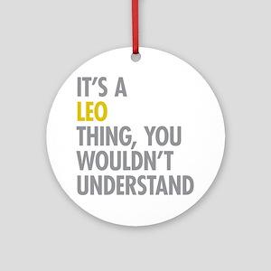 Leo Thing Ornament (Round)