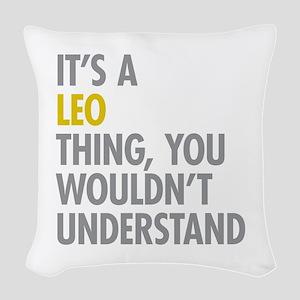 Leo Thing Woven Throw Pillow