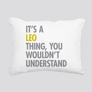 Leo Thing Rectangular Canvas Pillow