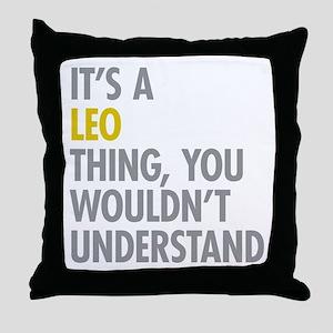 Leo Thing Throw Pillow
