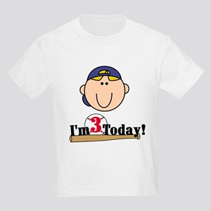 Baseball 3rd Birthday(blond) Kids Light T-Shirt