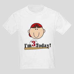 Baseball 3rd Birthday(brown) Kids Light T-Shirt