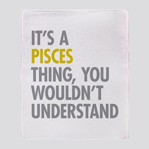 Pisces Thing Throw Blanket