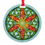 Celtic Summer Mandala Round Ornament