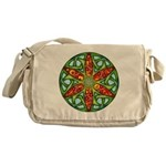 Celtic Summer Mandala Messenger Bag