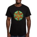 Celtic Summer Mandala Men's Fitted T-Shirt (dark)