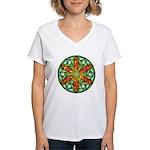 Celtic Summer Mandala Women's V-Neck T-Shirt