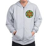 Celtic Summer Mandala Zip Hoodie