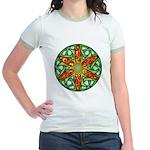 Celtic Summer Mandala Jr. Ringer T-Shirt