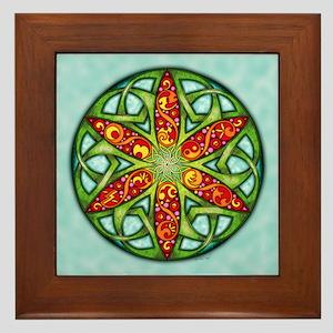 Celtic Summer Mandala Framed Tile